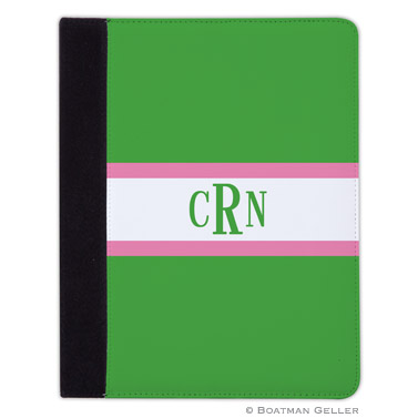 iPad, iPad Mini, iPad Air Cases & Cover - Stripe Kelly & Bubblegum