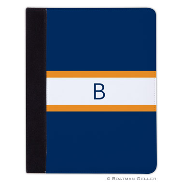 iPad, iPad Mini, iPad Air Cases & Cover - Stripe Navy & Tangerine