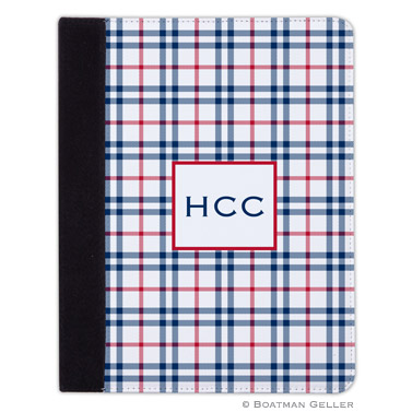 iPad, iPad Mini, iPad Air Cases & Cover - Miller Check Navy & Red