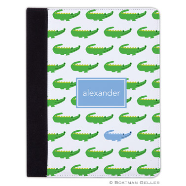 iPad, iPad Mini, iPad Air Cases & Cover - Alligator Repeat Blue