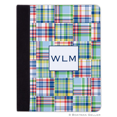 iPad, iPad Mini, iPad Air Cases & Cover - Madras Patch Blue