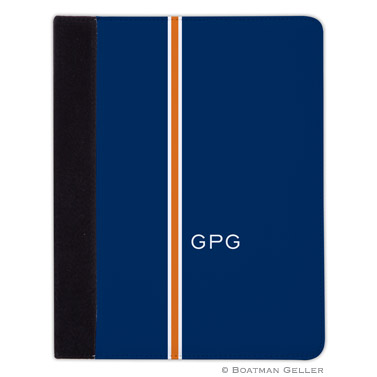 iPad, iPad Mini, iPad Air Cases & Cover - Racing Stripe Navy & Orange