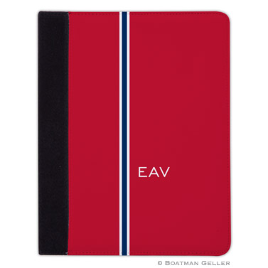 iPad, iPad Mini, iPad Air Cases & Cover - Racing Stripe Red & Navy