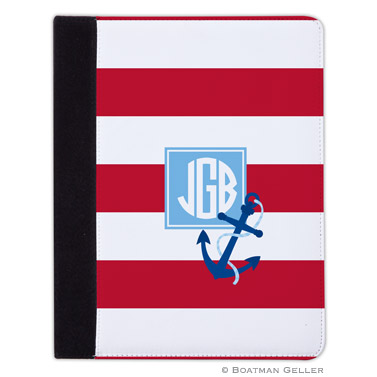 iPad, iPad Mini, iPad Air Cases & Cover - Stripe Anchor Red