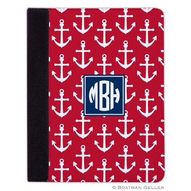 iPad, iPad Mini, iPad Air Cases & Cover - Anchors White on Red