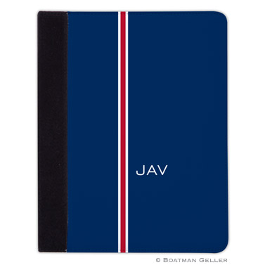 iPad, iPad Mini, iPad Air Cases & Cover - Racing Stripe Navy & Red