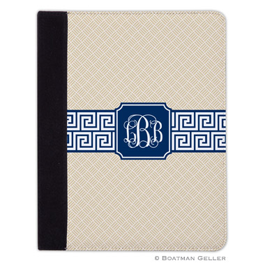 iPad, iPad Mini, iPad Air Cases & Cover - Greek Key Band Navy for Tablets by Boatman Geller, Discounted