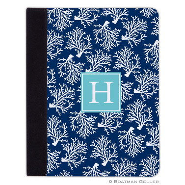 iPad, iPad Mini, iPad Air Cases & Cover - Coral Repeat Navy for Tablets by Boatman Geller, Discounted