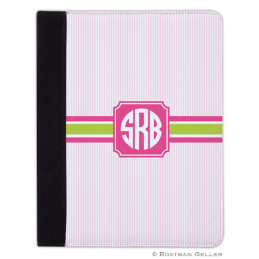 iPad, iPad Mini, iPad Air Cases & Cover - Seersucker Band Pink & Green