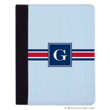 iPad, iPad Mini, iPad Air Cases & Cover - Seersucker Band Red & Navy