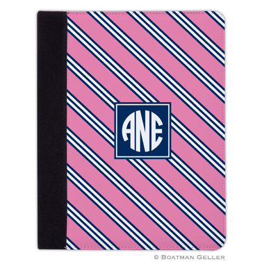 iPad, iPad Mini, iPad Air Cases & Cover - Repp Tie Pink & Navy