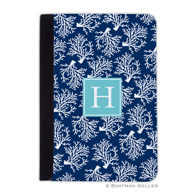 iPad, iPad Mini, iPad Air Cases & Cover - Coral Repeat Navy 1