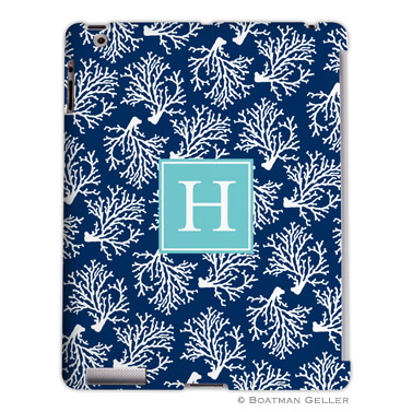 iPad, iPad Mini, iPad Air Cases & Cover - Coral Repeat Navy 2