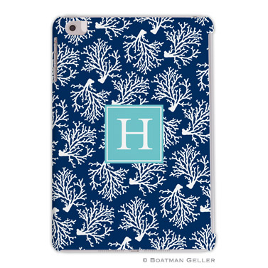 iPad, iPad Mini, iPad Air Cases & Cover - Coral Repeat Navy 3