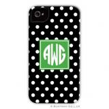 iPod & iPhone Cell Phone Case - Polka Dot Black by Boatman Geller, Discounted