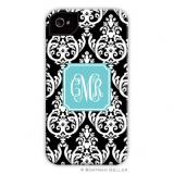 iPod & iPhone Cell Phone Case - Madison Damask Black by Boatman Geller, Discounted
