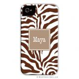 iPod & iPhone Cell Phone Case - Zebra Chocolate by Boatman Geller, Discounted