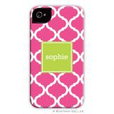 iPod & iPhone Cell Phone Case - Ann Tile Raspberry by Boatman Geller, Discounted