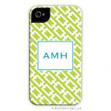 iPod & iPhone Cell Phone Case - Chain Link Lime by Boatman Geller, Discounted