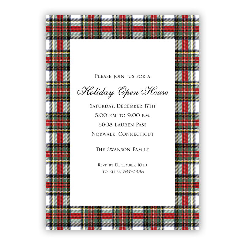 Stewart Plaid Holiday Large Flat Cards