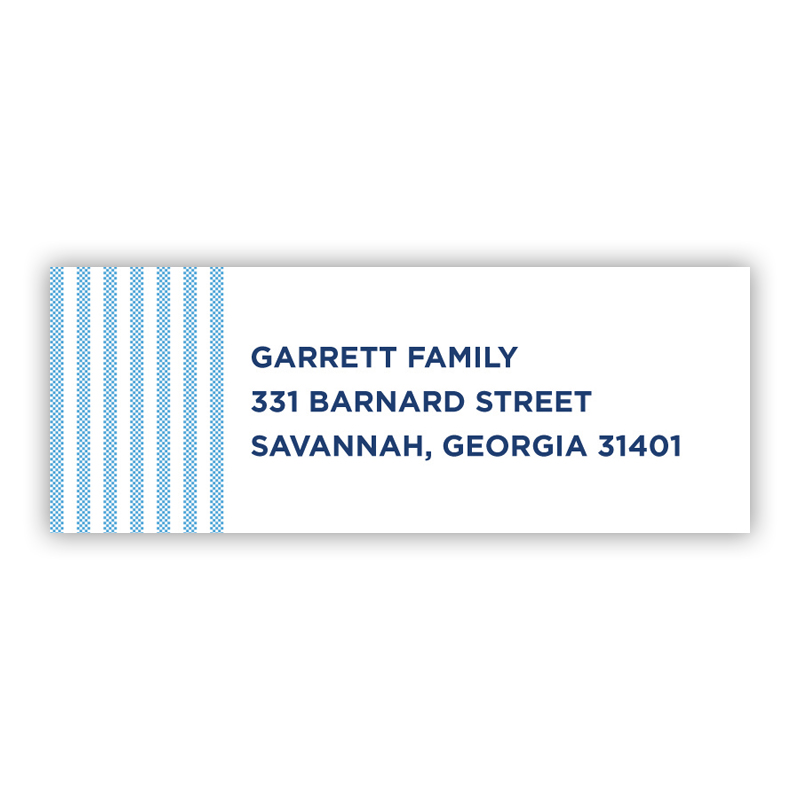 Seersucker Blue Address Label