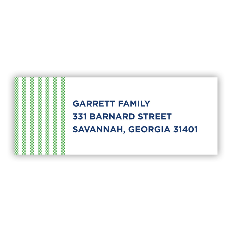 Seersucker Green Address Label
