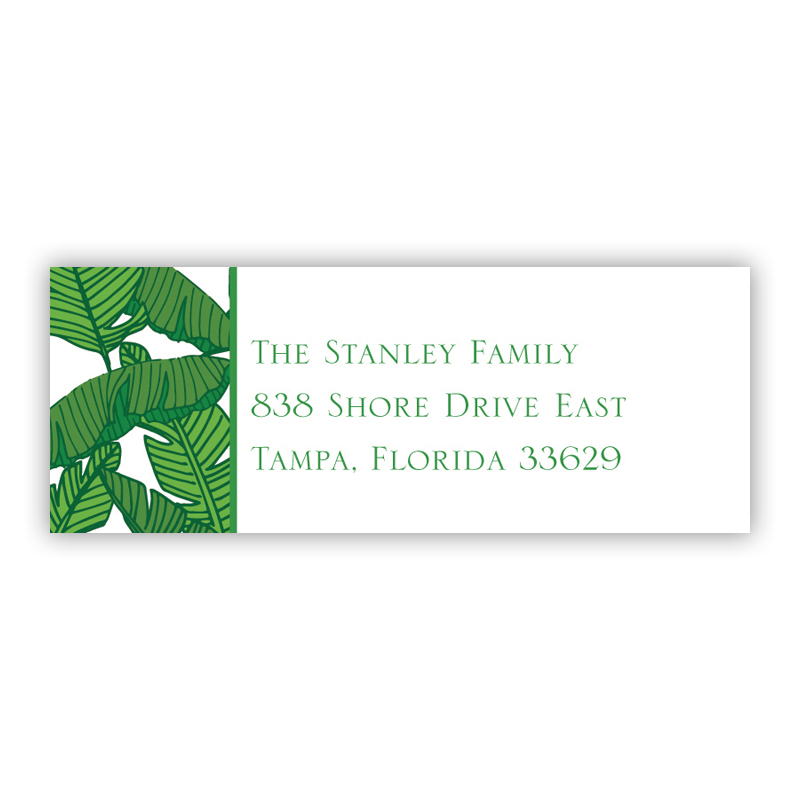 Banana Leaf Address Label