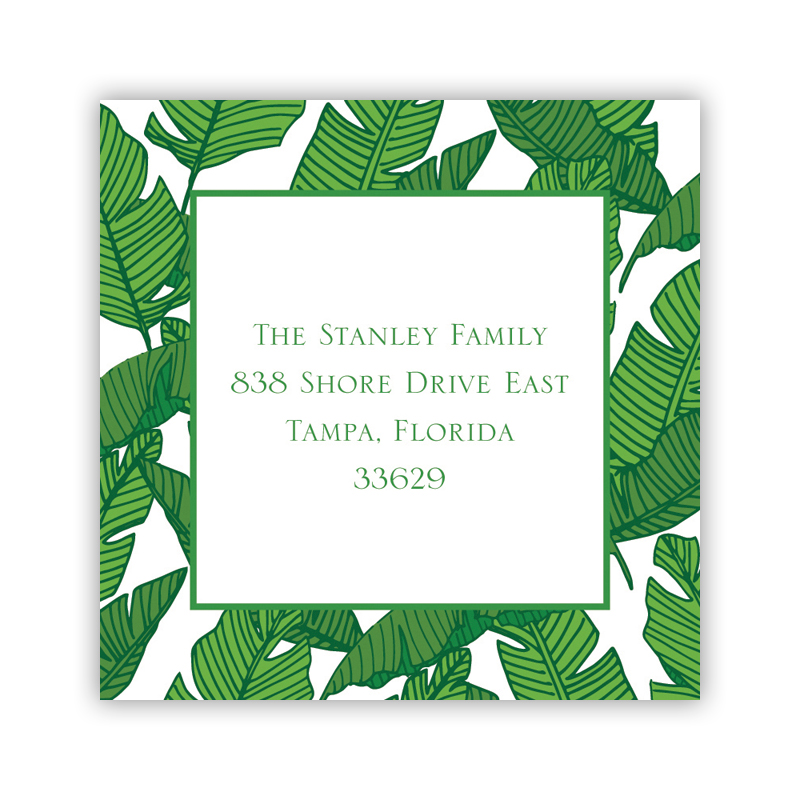Banana Leaf Square Sticker