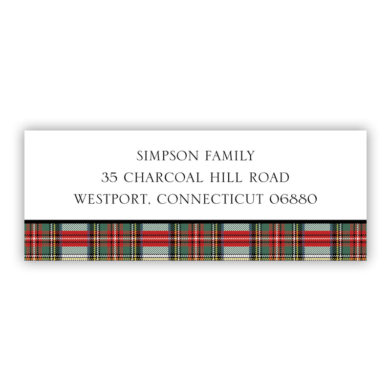 Stewart Plaid Address Label