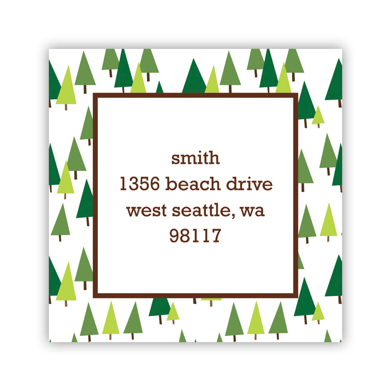 Holiday Trees Square Sticker