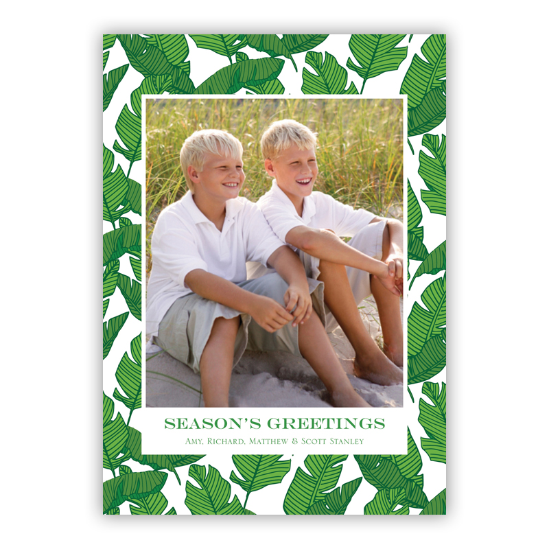 Banana Leaf Holiday Flat Photocards