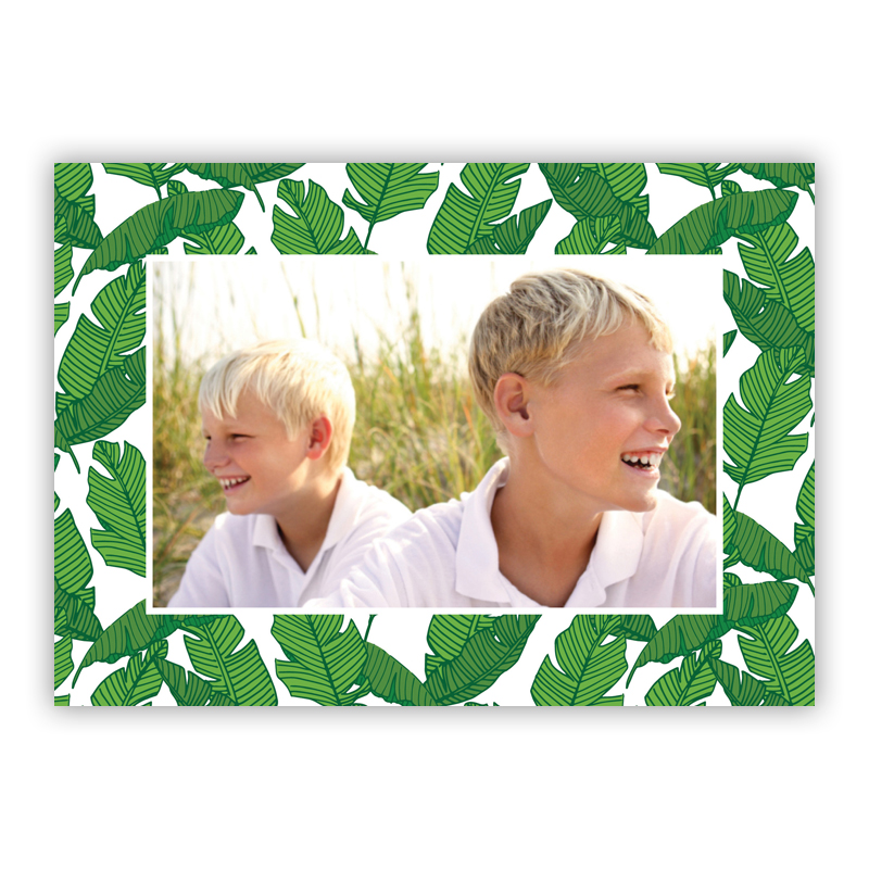 Banana Leaf Holiday Folded Photocards