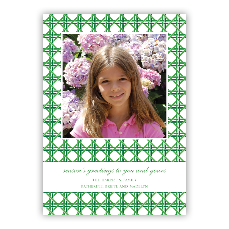Parker Green Holiday Flat Photocards