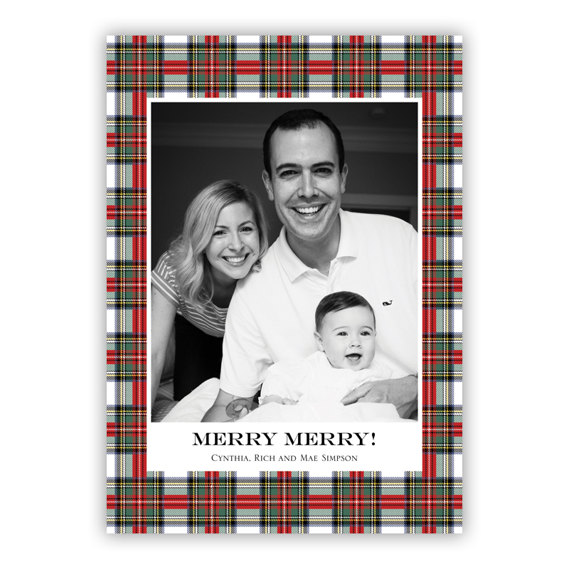 Stewart Plaid Holiday Flat Photocards