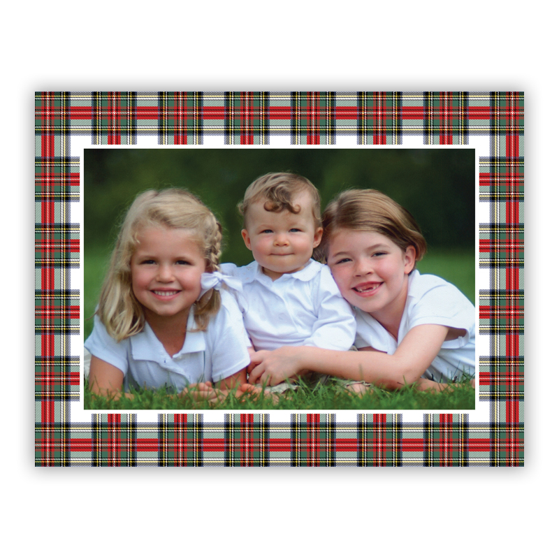 Stewart Plaid Holiday Folded Photocards