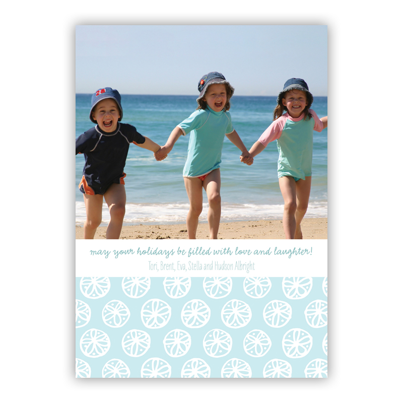 Summer White Holiday Flat Photocards