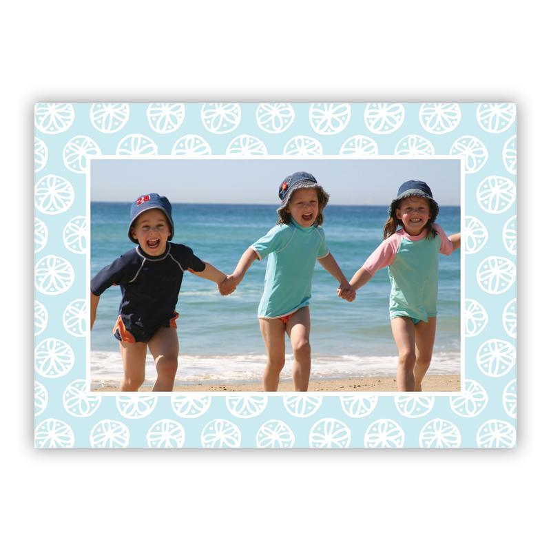 Summer White Holiday Folded Photocards