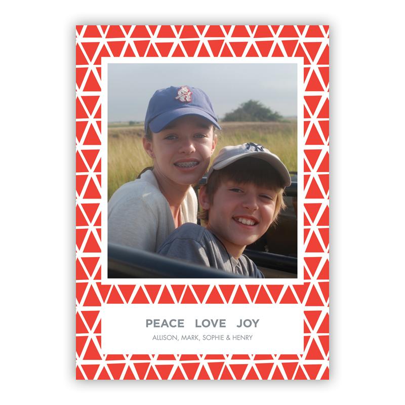 Amanda Warm Red Holiday Flat Photocards