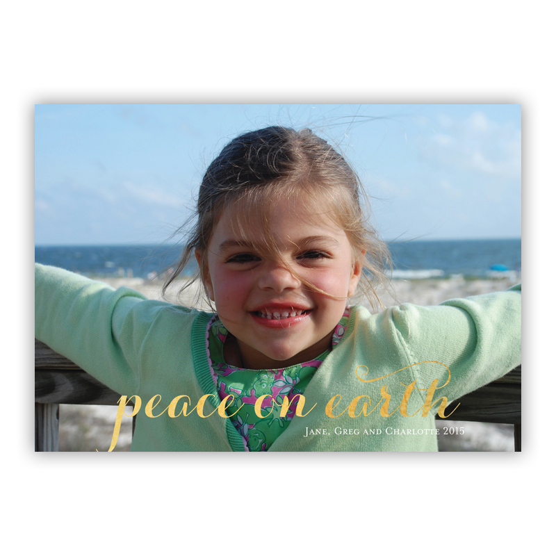 Carolyna Peace on Earth Foil Holiday Flat Photocard