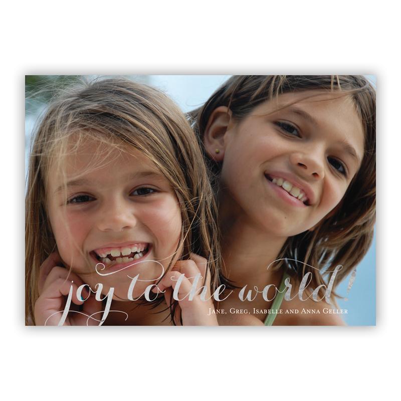 Carolyna Joy Foil Holiday Flat Photocard