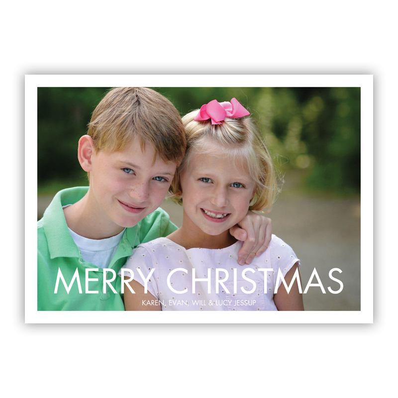 Futura Merry Christmas Holiday Flat Photocards
