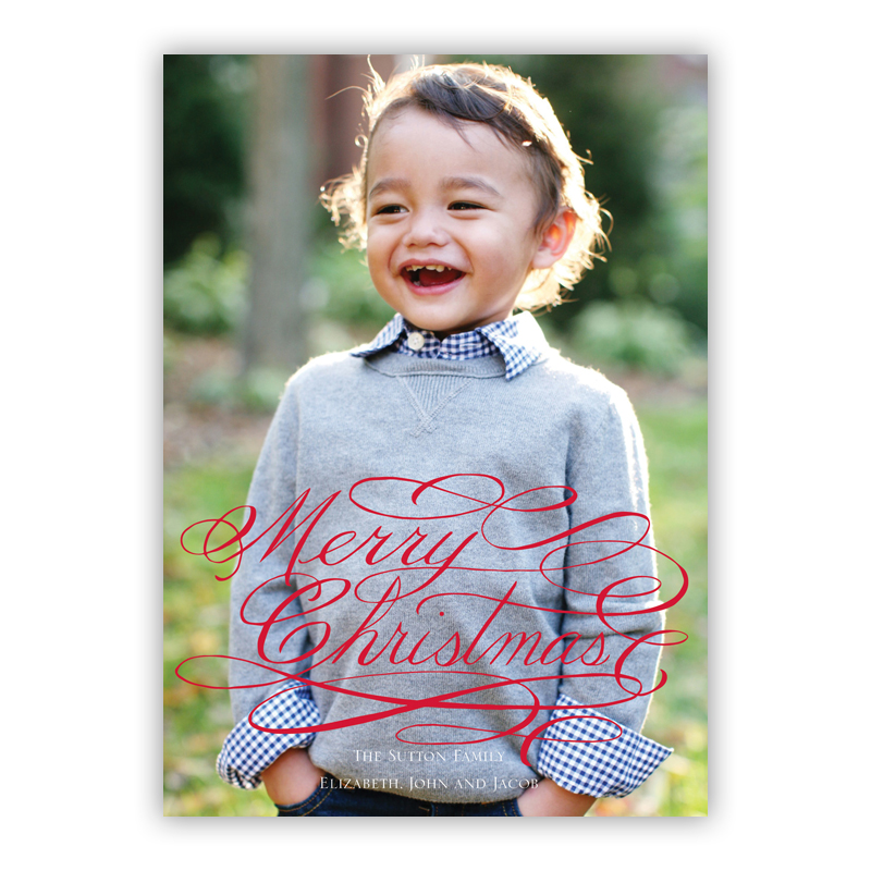 Merry Christmas Holiday Flat Photocards