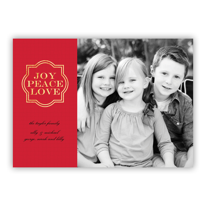 Joy Frame Red Foil Holiday Flat Photocard