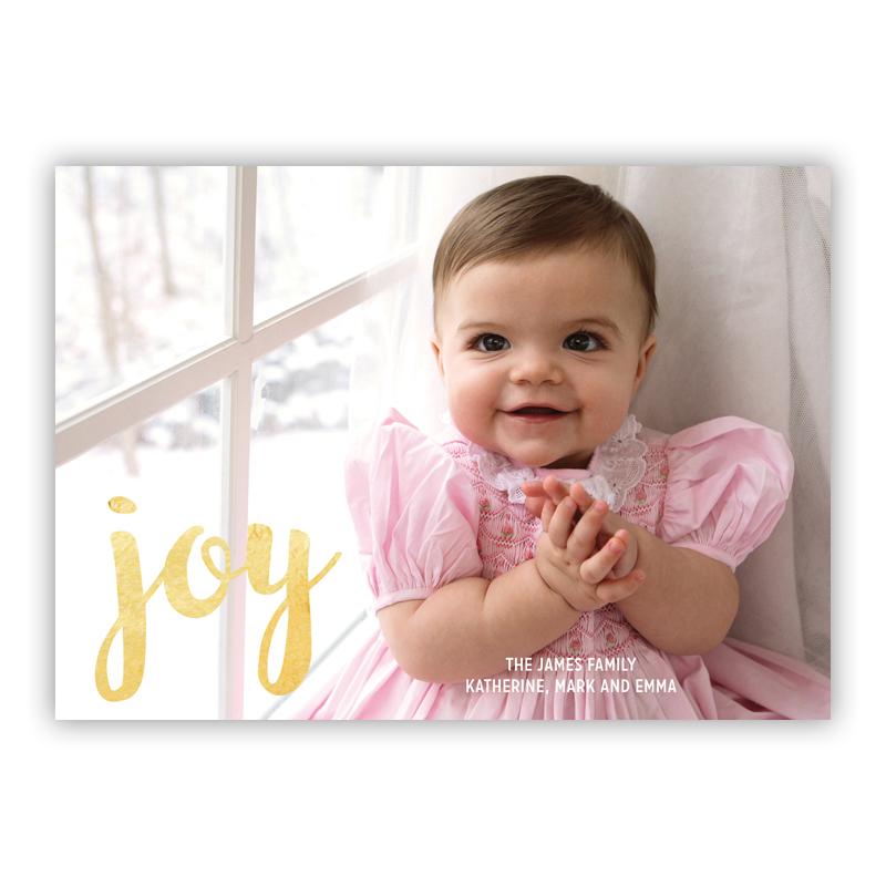 Joy Foil Holiday Flat Photocard