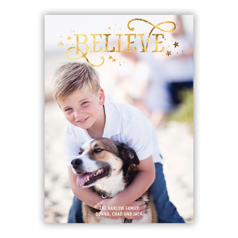 Believe Foil Holiday Flat Photocard