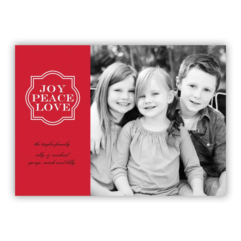 Joy Frame Red Holiday Flat Photocards