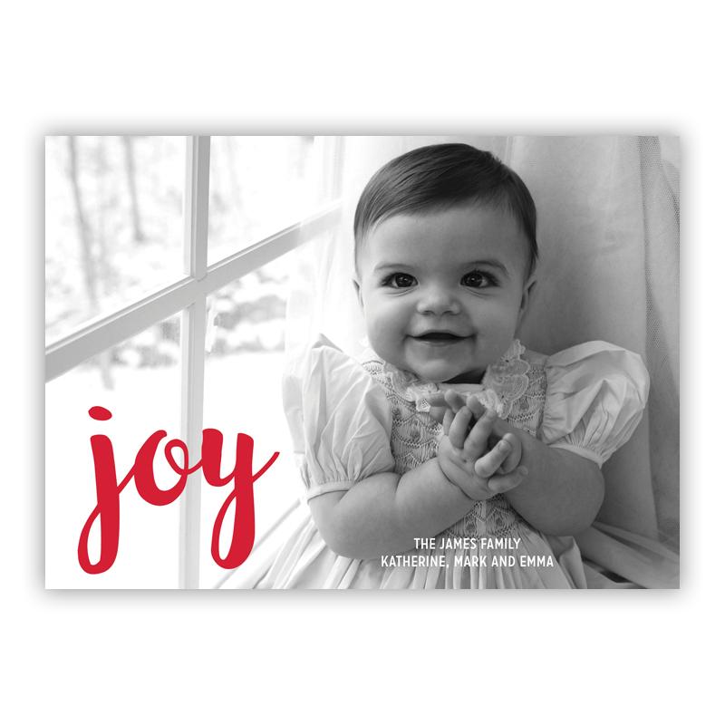 Joy Holiday Flat Photocards