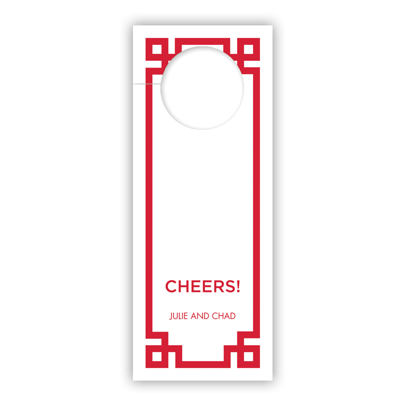 Corner Key Red Holiday Wine Tag, Qty 8