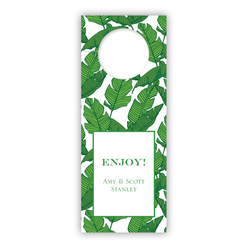 Banana Leaf Holiday Wine Tag, Qty 8