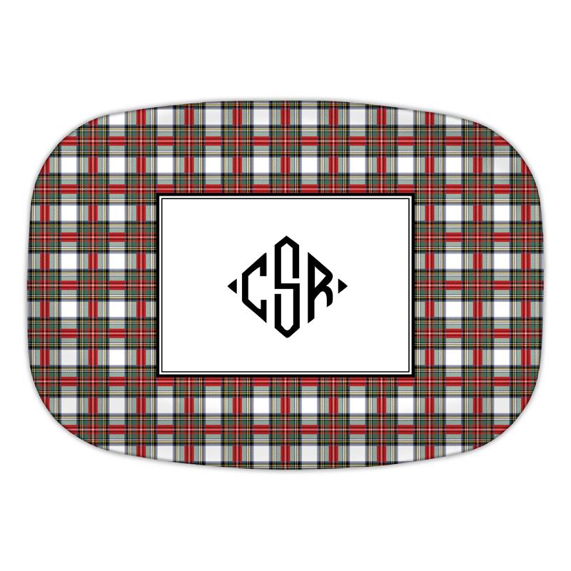 Stewart Plaid Platter